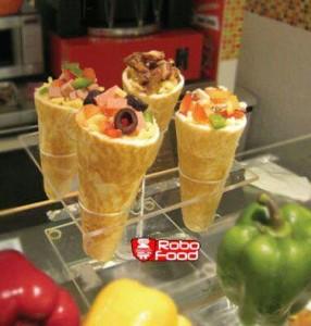 پیتزا قیفی و هولدر شیشه ای: تجهیزات فست فود روبوفود