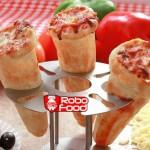 پیتزا قیفی توسط تجهیزات فست فود روبوفود