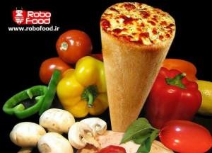 پیتزا قیفی و سبزیجات: تجهیزات فست فود روبوفود