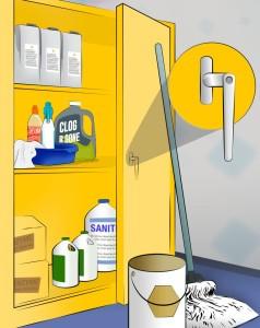 کمد نگهداری مواد شیمیایی: تجهیزات فست فود روبوفود