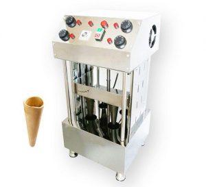 دستگاه تولید نان قیفی پیتزا اتومات چهار قالبه